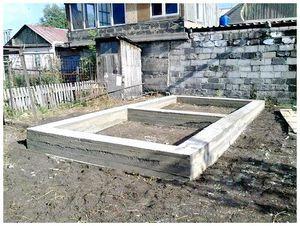 Подготовка места под строительство бани