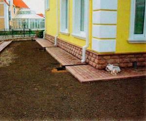 Отмостка тротуарной плиткой своими руками пошаговая инструкция