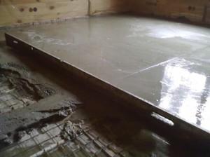 Заливка пола бетоном м200